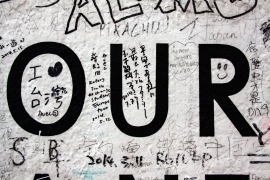 """Graffiti auf """"Detour to the Japanese Sector"""""""