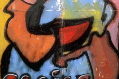 """Graffito """"SMILE"""" von Thierry Noir"""