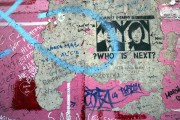 "Graffito ""?WHO IS NEXT?"