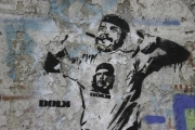 """Graffito """"Castro & Che"""""""
