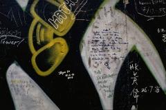"""Graffito """"Hallo, wir kommen aus Halle ..."""""""