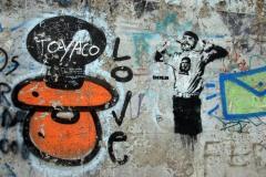 Graffiti Castro, Che & Rudolf Hess lebt