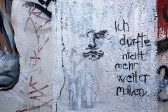 """Graffito """"Ich durfte nicht weiter malen."""""""