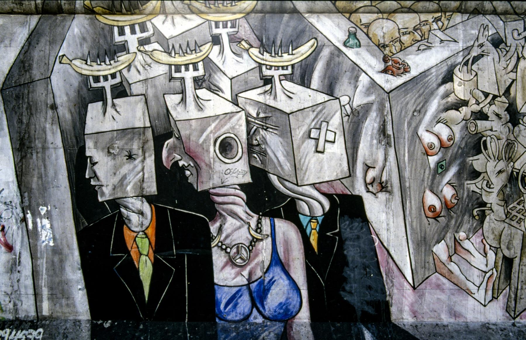 """Mural """"Chaos"""" (Detail) von César Olhagaray"""