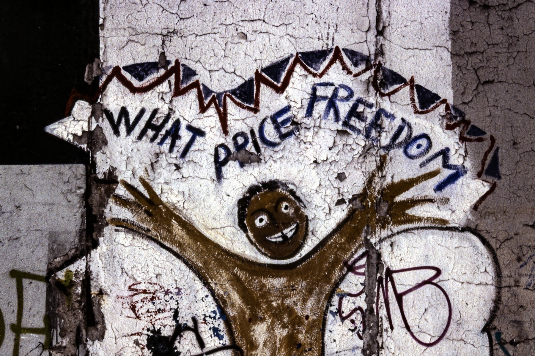 "Graffito: ""WHAT PRICE FREEDOM"""