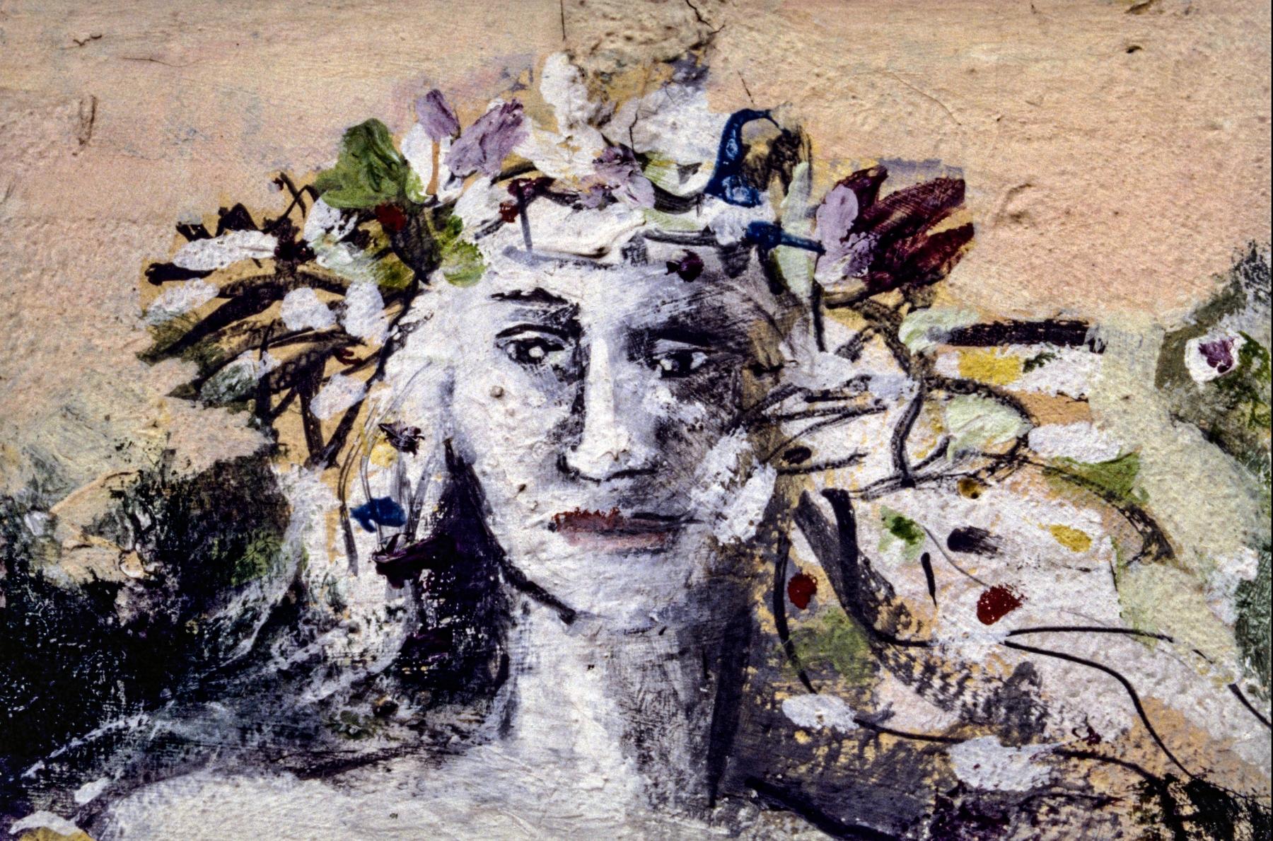 """Mural """"Flora geht"""" von Brigida Böttcher (Ausschnitt)"""